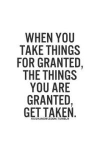 takingthingsforgranted