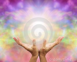 angelic-healing-energy-outstretched-hands-color-background-40930244